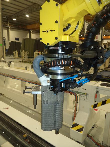 smart drilling end effector on robot courtesy Airbus